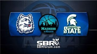 NCAA Basketball Picks: UConn Huskies vs. Michigan State Spartans