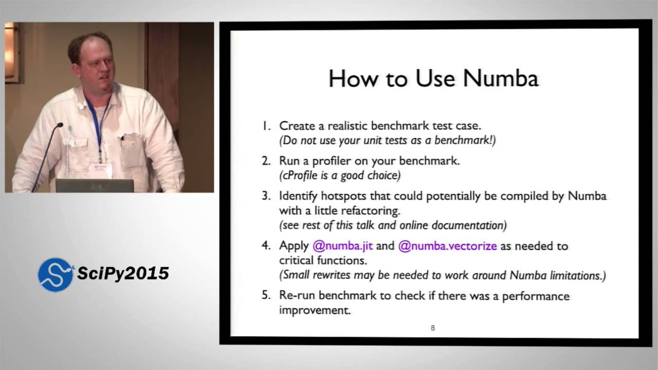 Accelerating Python with the Numba JIT Compiler | SciPy 2015 | Stanley  Seibert