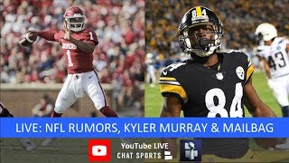 NFL Rumors, NFL News, Antonio Brown Trade, 2019 NFL Draft Early Entries - Filmed Live
