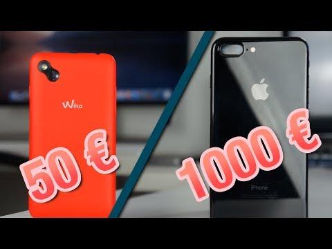 Wiko (50€) VS IPhone (1 000€)