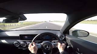 2018 Mercedes Benz A180d AMG Line Acceleration 0-60  0-100 Driving on road car review HD