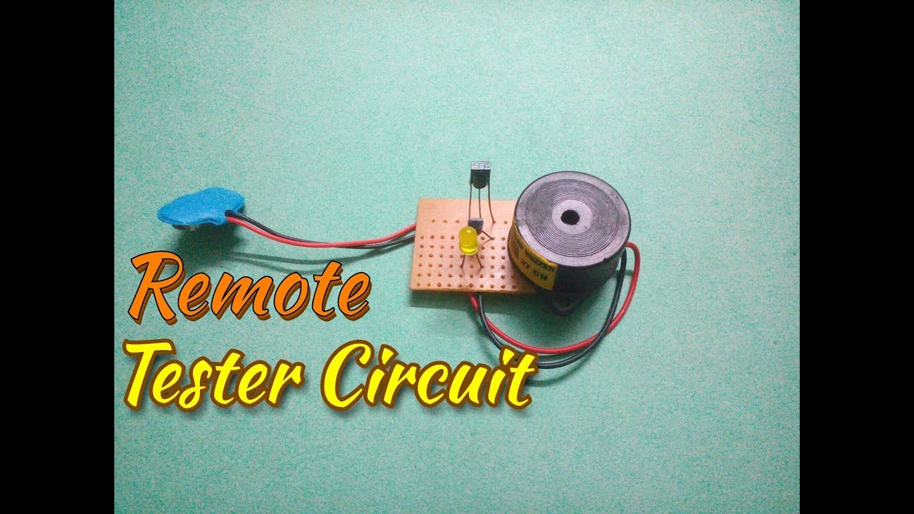 make an ir remote tester circuit remote sensor ir detector simple process easy way  [ 1280 x 720 Pixel ]