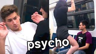 Girl jumps on random guys for TikTok clout...