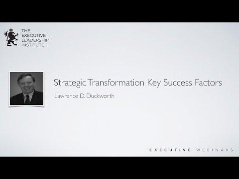 Strategic Transformation Key Success Factors