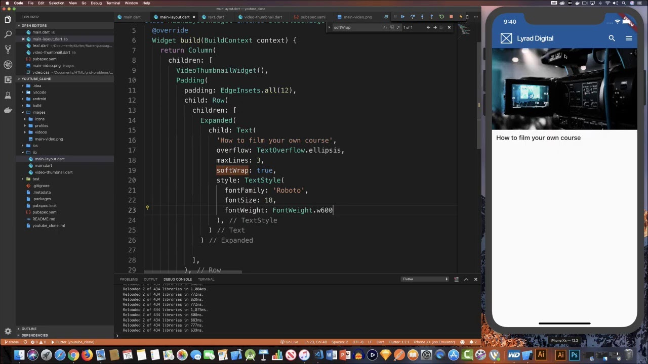 Learn Flutter With Me - Let's build a YouTube Clone - YouTube