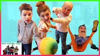 Sneaky Hello Neighbor In Real Life Hide And Seek / That YouTub3 Family I Family Channel