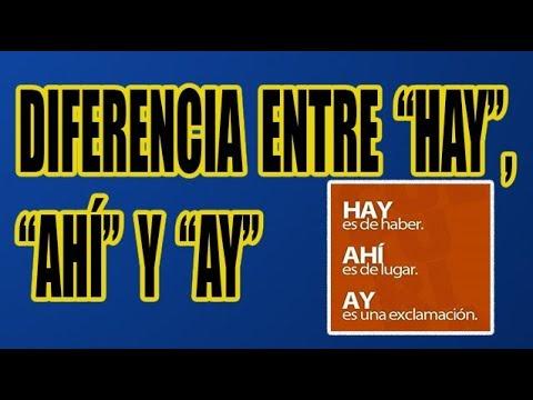 Diferencia Entre Hay Ahí Y Ay Con Ejemplos Wilson Te Enseña Youtube