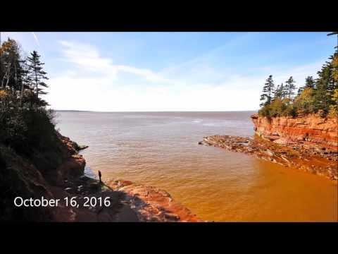 Incredible Timelapse High to Low Tide, Burntcoat Head Park Nova Scotia.