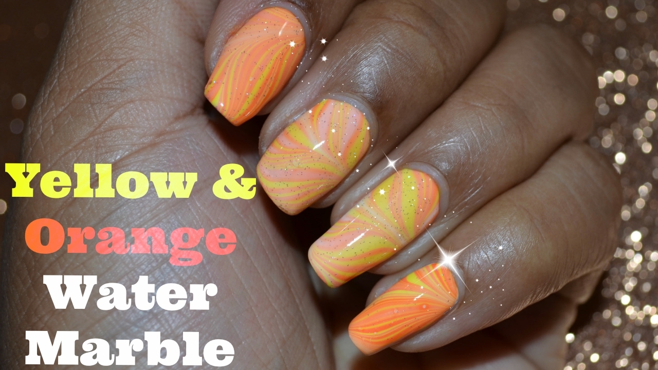 Neon yellow orange water marble nail art tutorial youtube neon yellow orange water marble nail art tutorial prinsesfo Image collections