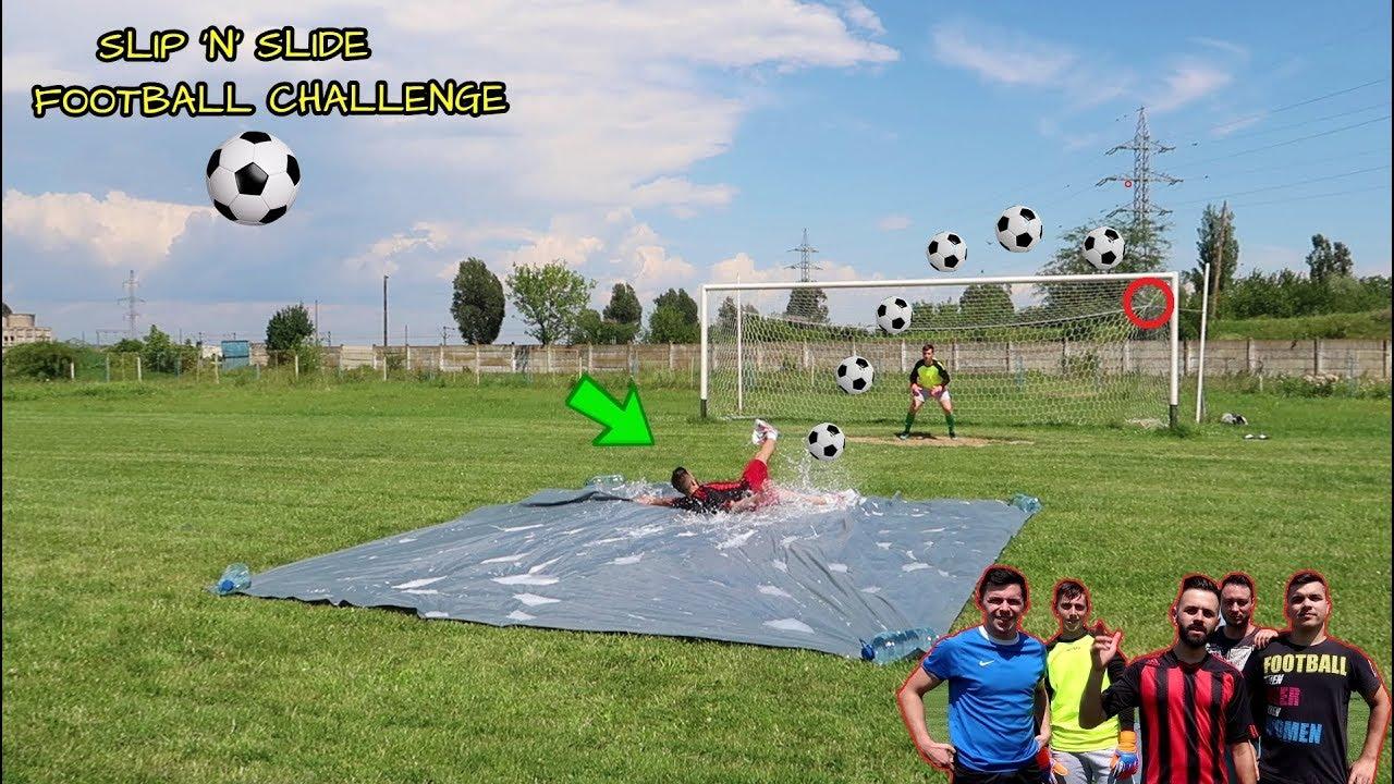 FOTBAL ALUNECOS 😂!!! (SLIP 'N' SLIDE CHALLENGE) Special 600K abonati!
