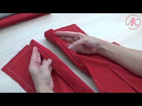 Как вшить потайную молнию в платье на спине с подкладом