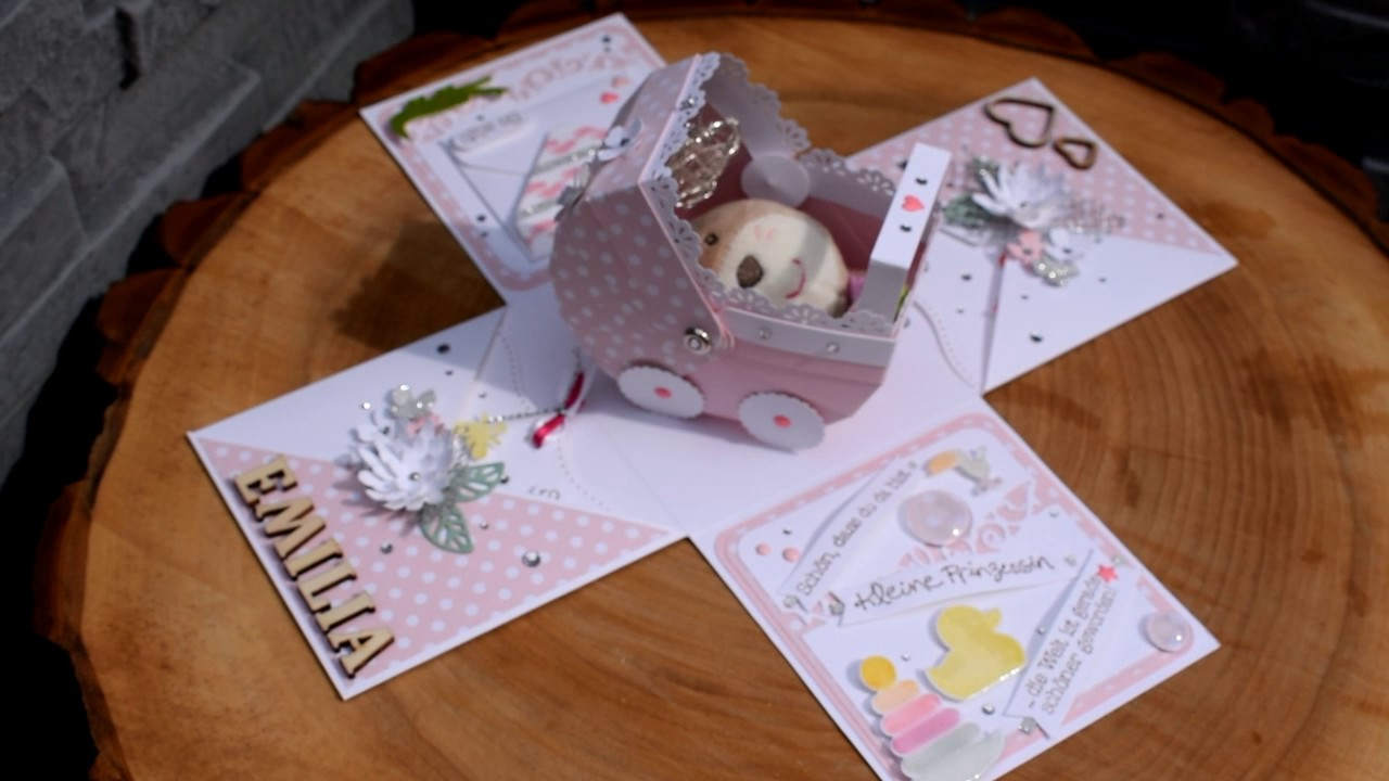 Baby Geschenk Explosionsbox Zahnbox Stampin Up