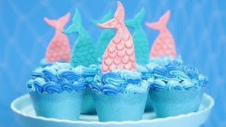 MERMAID TAIL CUPCAKES - NERDY NUMMIES