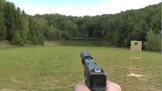 Shooting Glock 19 9mm suppressed w/ AAC Tirant 9 & Silencerco 40 k suppressor / silencer