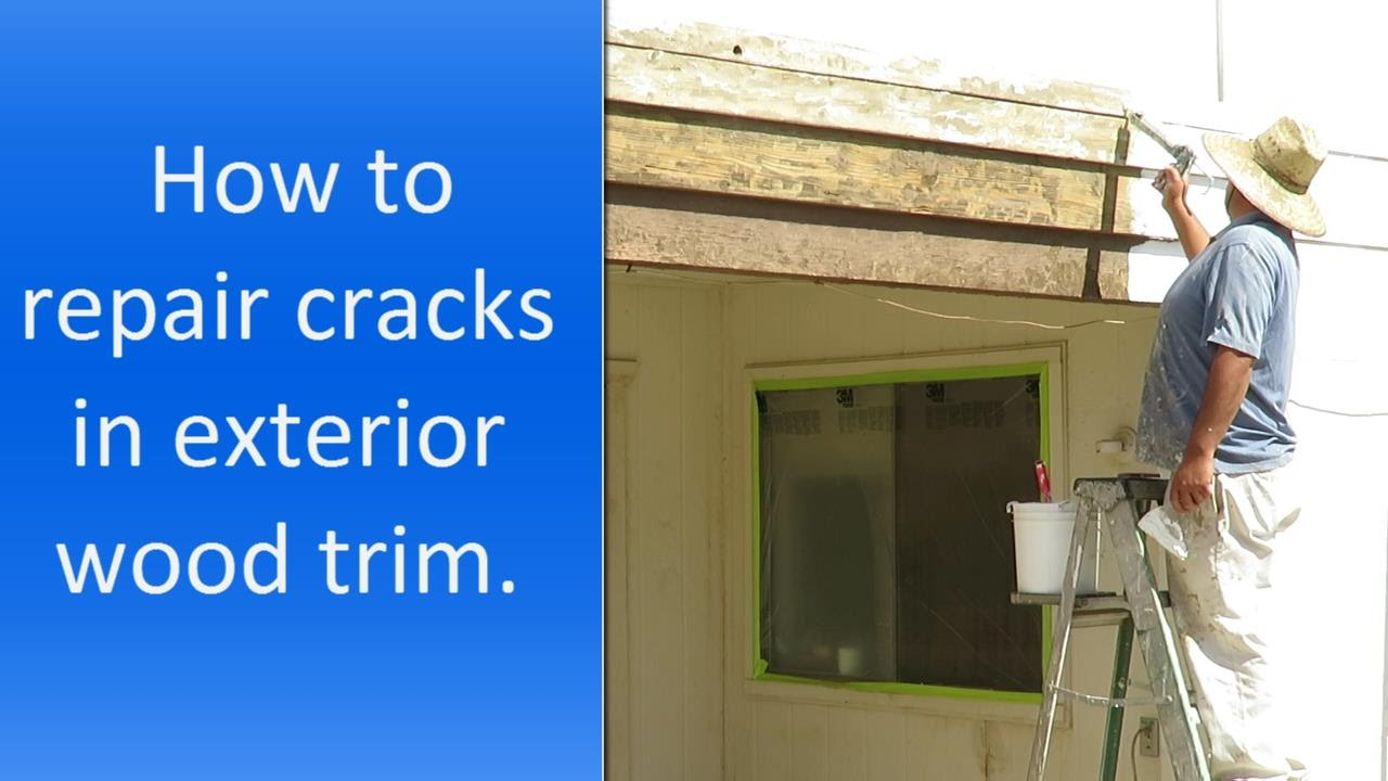 How to repair cracks in exterior wood trim or fascia boards YouTube