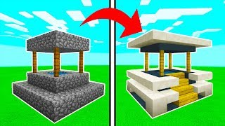 Minecraft Tutorial: How To Transform a Village Well Into A Modern Well