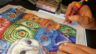 5D DIY Diamond Painting-More Static mixed with Clumsiness!!!