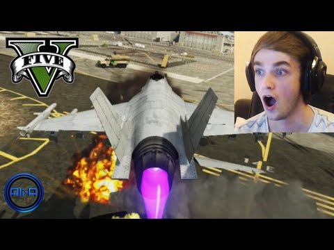 """MISSION IMPOSSIBLE!?"" - GTA 5 - TANK & FIGHTER JET Gameplay! (Grand Theft Auto V)"