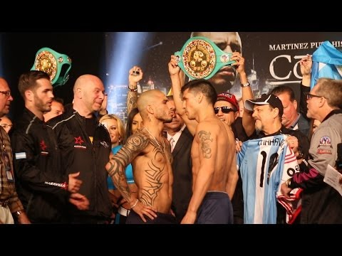 Cotto vs. Martinez weigh in video and face off