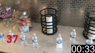 Drue Chrisman Flips 63 Bottles in a Minute
