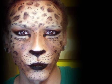 leopard mask makeup tutorial youtube. Black Bedroom Furniture Sets. Home Design Ideas