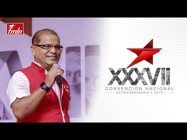 Oscar Ortíz en la XXXVII Convención Ordinaria FMLN