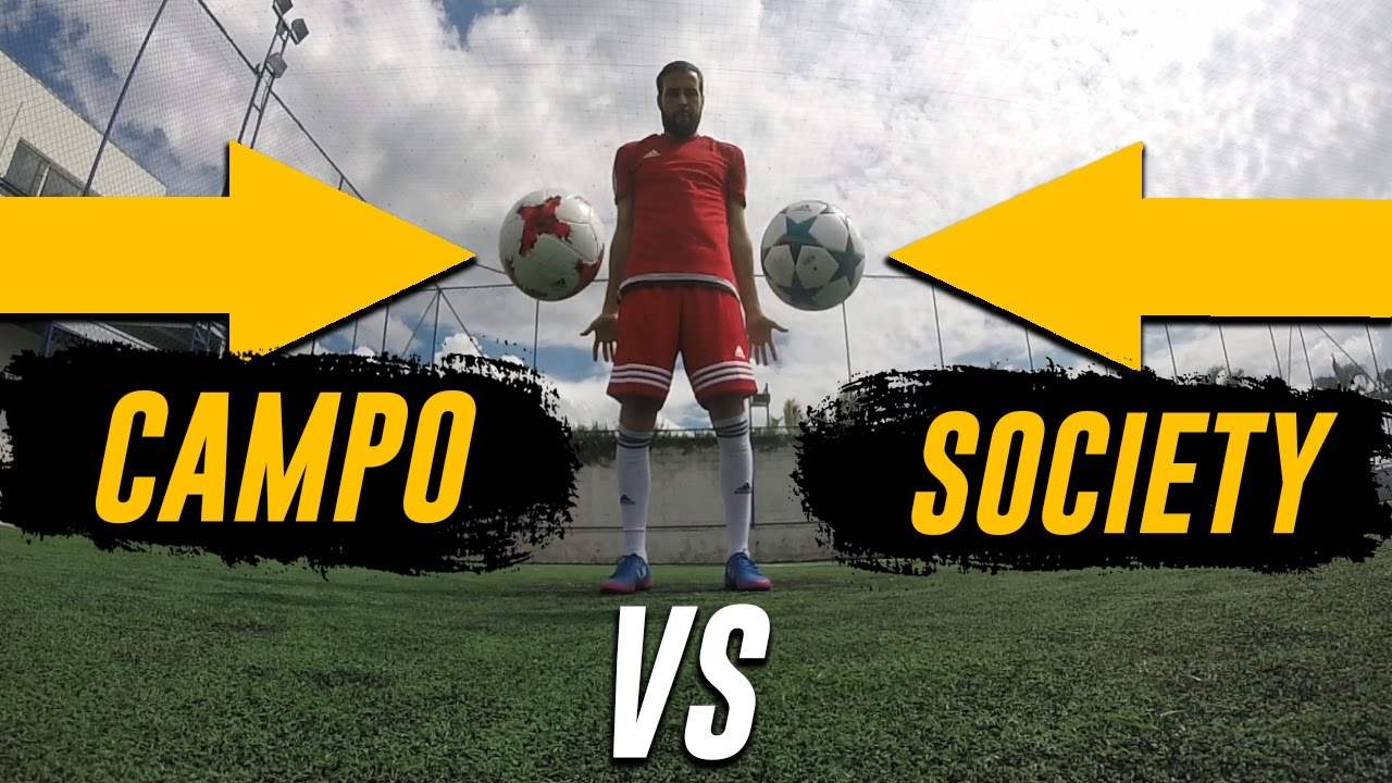 9552b5a06d Bola Society vs Bola Campo - Você sabe a diferença  - YouTube