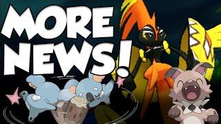 EVEN MORE POKEMON SUN AND MOON NEWS!