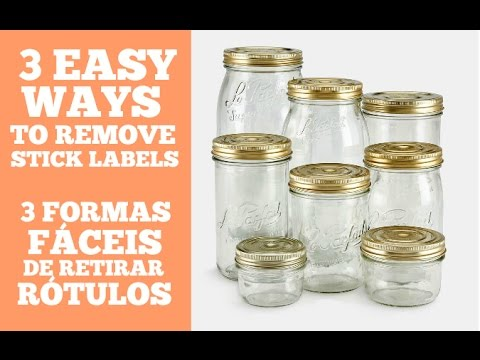 3 EASY WAYS TO REMOVE STICKY LABELS FROM A JAR (TESTED and APPROVED)