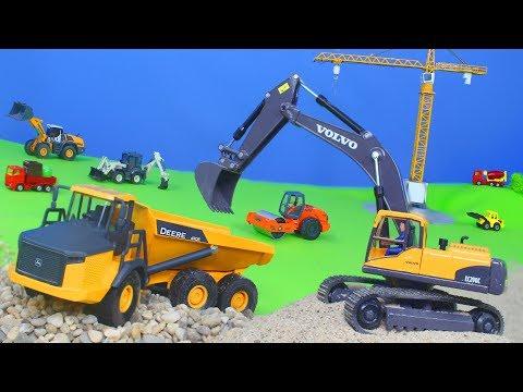 Bagger, Lastwagen, Spielzeugautos, Truck & Kran Baustelle für Kinder | SIKU Toys Spielwaren deutsch