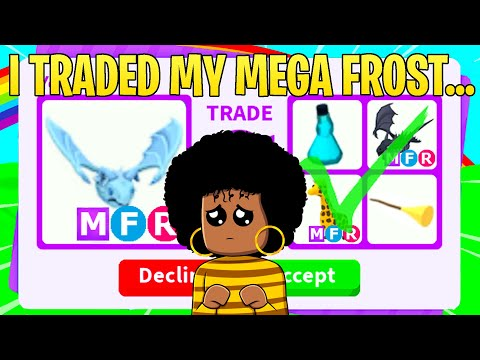 I Actually Traded My MEGA NEON FROST DRAGON... (ADOPT ME)