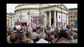 Brzeg Solidarność Demonstracja w Warszawie Obudź się Polsko 29 09 2012