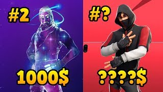 FORTNITE'S 7 MOST FACE AND EXCLUSIVE SKINS! (The #1 Don't Wait!)