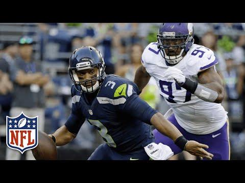 Russell Wilson Sacked Over & Over vs. Vikings | 2016 NFL Preseason Highlights