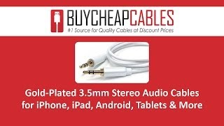 Gold-Plated 3.5mm Stereo Audio Cables for iPhone, iPad & more
