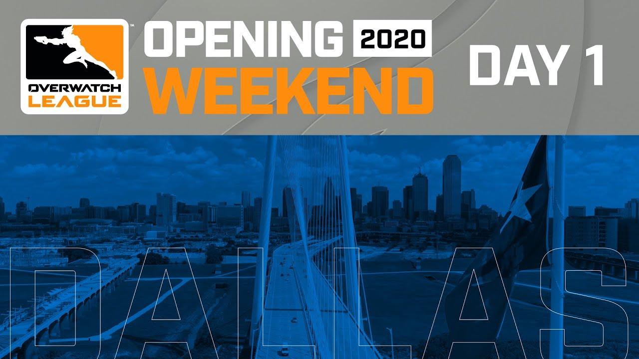 Fim de semana de abertura da temporada de Overwatch League 2020   Hospedado por New York Excelsior e Dallas Fuel   Dia 1 + vídeo