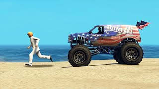 run away from the monster trucks gta 5 funny moments