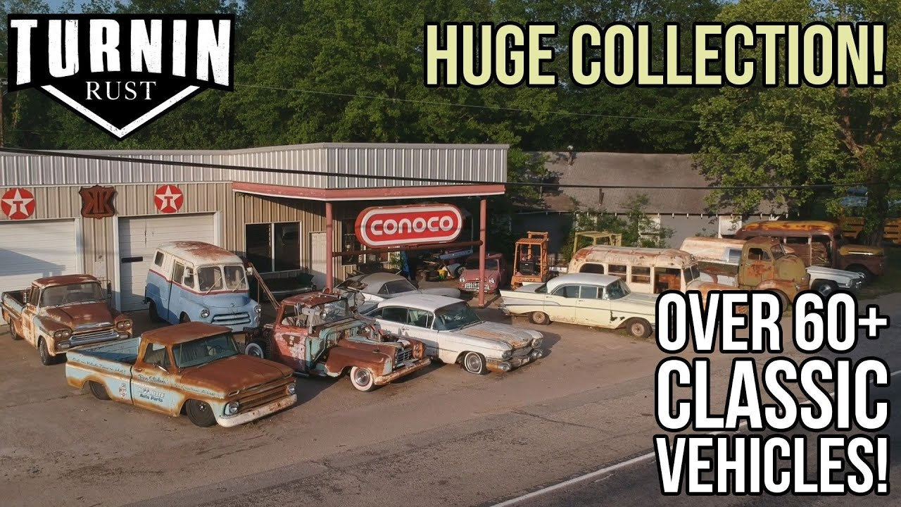 Shop Tour of Turnin Rust's HUGE 60+ Classic Vehicle Collection   Turnin Rust