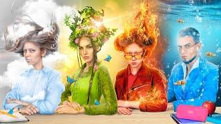 Учителя огонь, вода, воздух и земля!  4 стихии в колледже