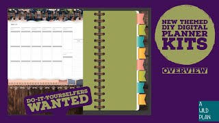 Do-it-yourself digital planner themes for digital planning - A Wild Plan