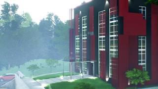 Unreal Engine видео визуализация Sport Centre
