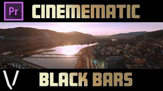 how to add cinematic black bars to videos in premiere pro cc