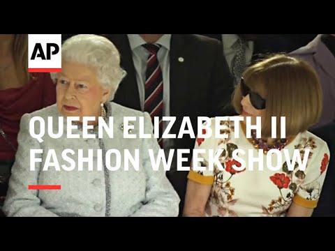 At 91, Queen Elizabeth II attends first Fashion Week show