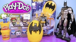 Play Doh Batman Surprise Egg Toys Scribblenauts DC Universe Mystery Minis - Disney Cars Toy Club