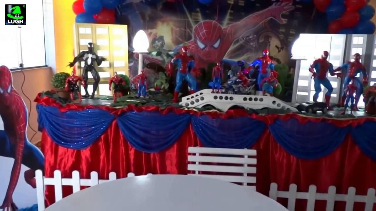 Homem aranha decorao tradicional luxo para festa infantil de homem aranha decorao tradicional luxo para festa infantil de meninos youtube thecheapjerseys Image collections