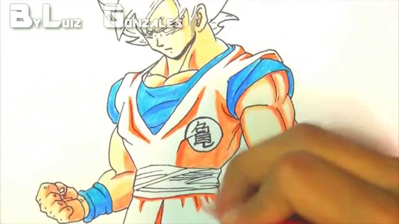 [How To Draw Goku SSJ God