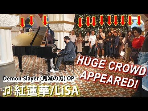 I Played DEMON SLAYER OP (Gurenge) On Piano In Public