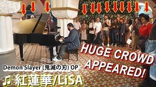 Download I played DEMON SLAYER OP (Gurenge) on piano in public