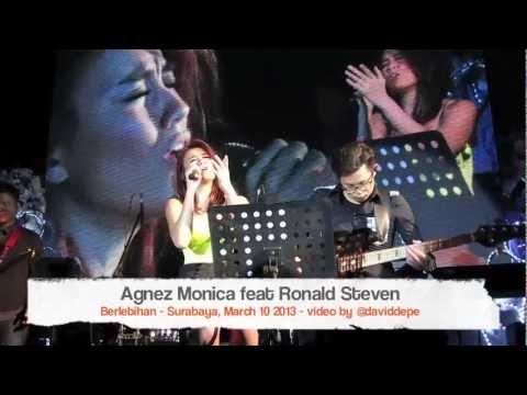 Agnez Monica feat Ronald Steven - Berlebihan @Surabaya, March 10 2013