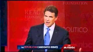 rick perry Makes a Fool of Himself on Global Warming - Presidential Debate 2011